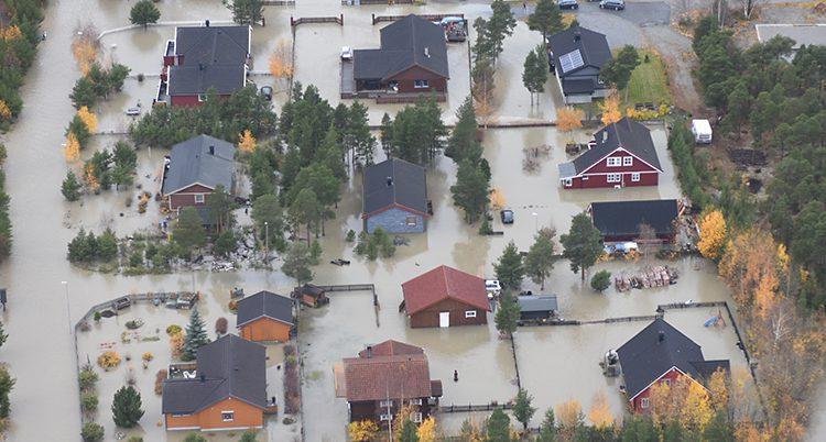 Husen har dränkt i vattnet