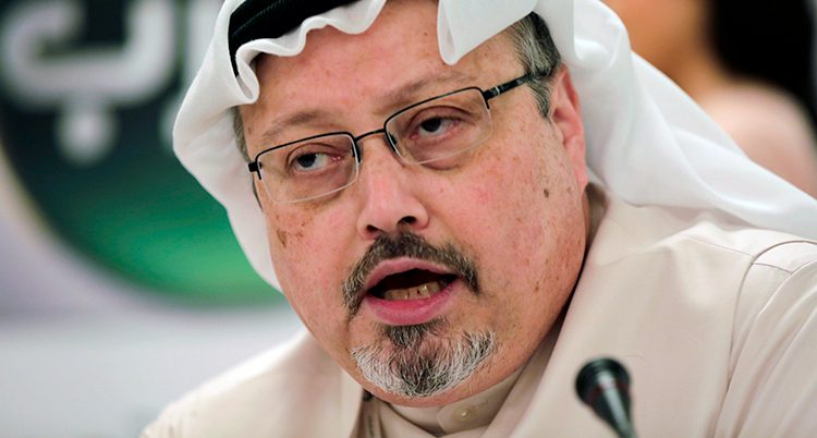 En bild på Jamal Khashoggi.