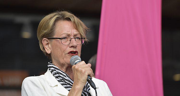 Gudrun Schyman på ett möte