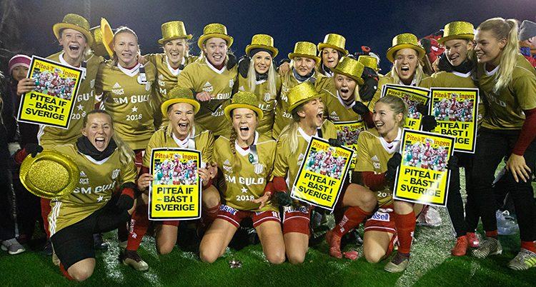 Piteå firar sitt SM-guld.