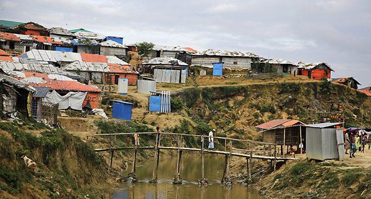 Ett flyktingläger i Bangladesh