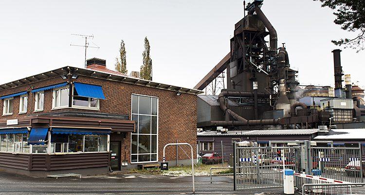 Företaget SSAB i Luleå.