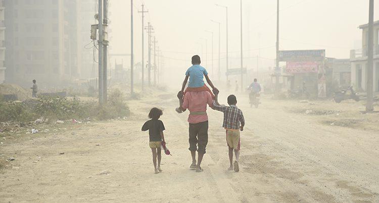 Luften är dålig i New Delhi.