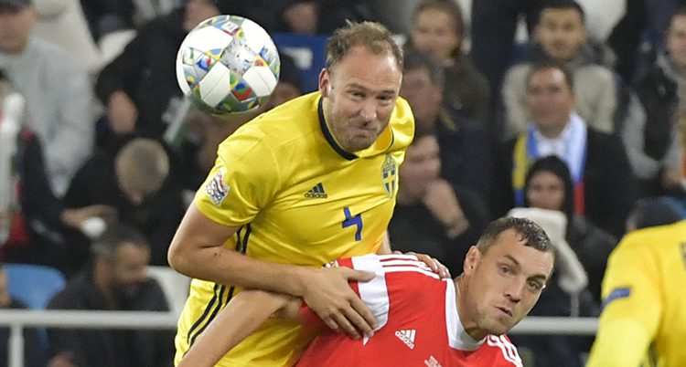 Andreas Granqvist i landslaget.