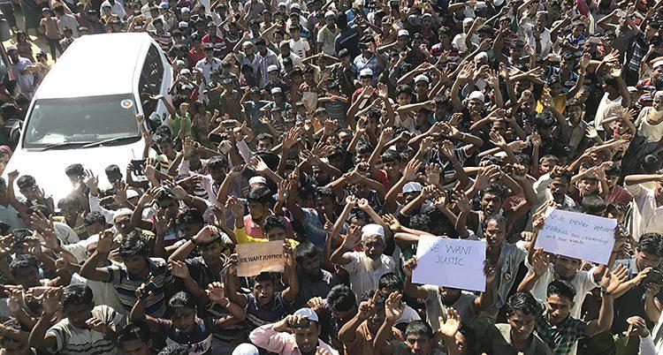 Rohingyerna protesterar