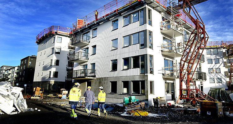Byggandet minskar i Sverige