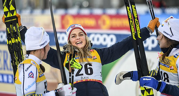 Therese Johaug firar segern