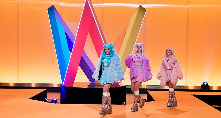 Dolly Style på Melodifestivalens scen.