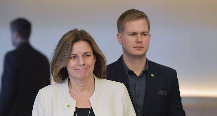 Isabella Lövin och Gustav Fridolin från Miljöpartiet.
