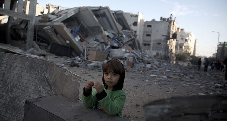 Ett barn i området Gaza