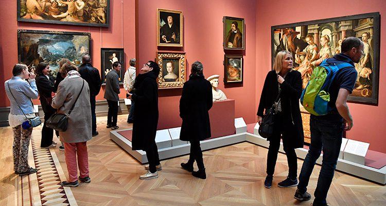 Ett rum på Nationalmuseum i Stockholm.