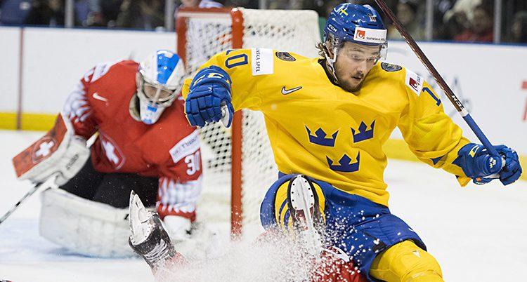 Sverige gjorde inga mål på Schweiz