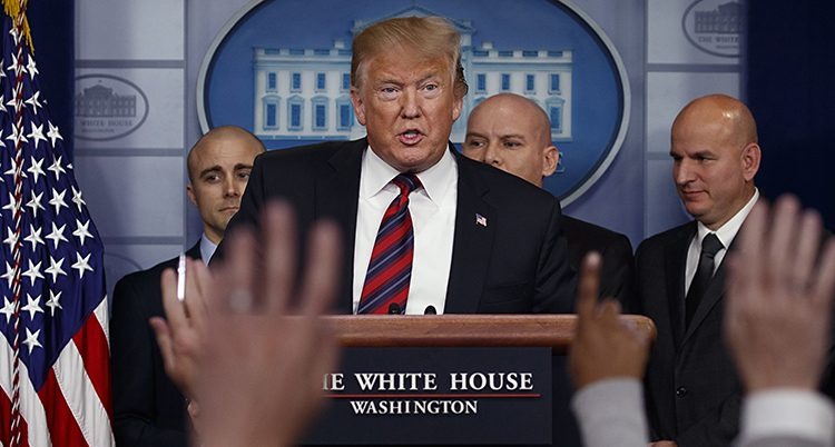 USAs president Donald Trump