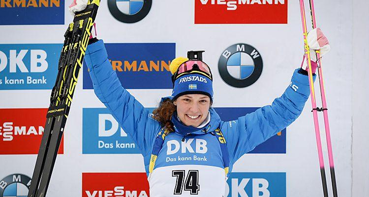Hanna Öberg jublar.