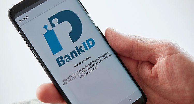 En telefon med bank-ID.
