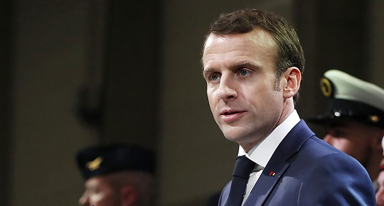 Frankrikes president Emmanuel Macro