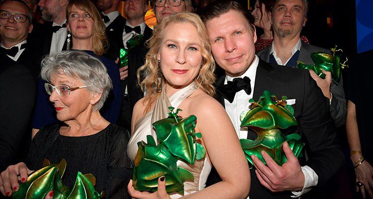 Några av vinnarna på filmgalan.