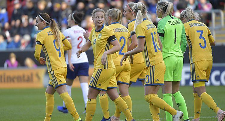 Sveriges damlag i fotboll.