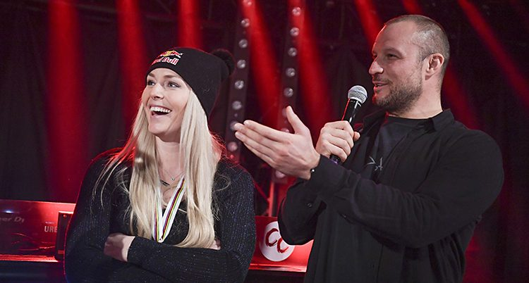 Lindsey Vonn och Aksel Lund Svinda