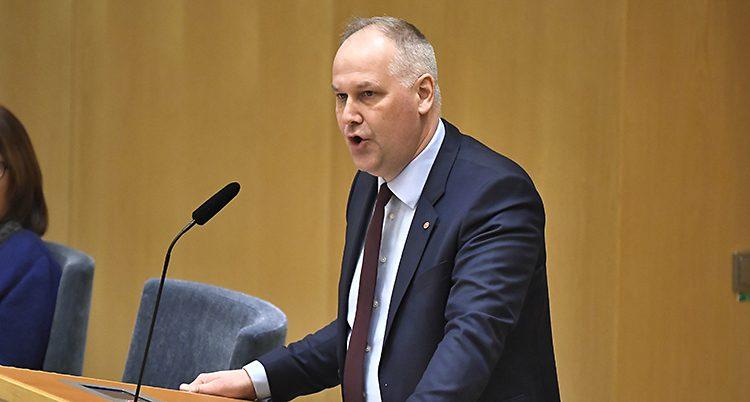 Jonas Sjöstedt är ledare för Vänsterpartiet
