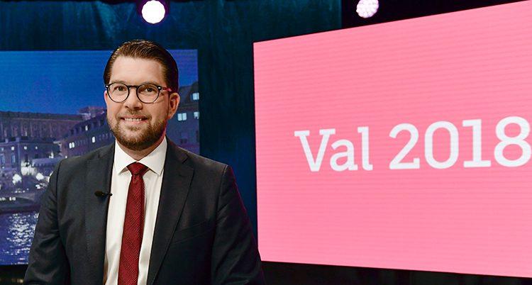 Jimmie Åkesson är ledare för Sverigedemokraterna.