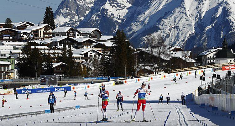 Åkare tränar inför skid-VM i Seefeld