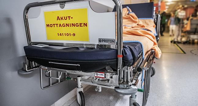 En säng på ett sjukhus