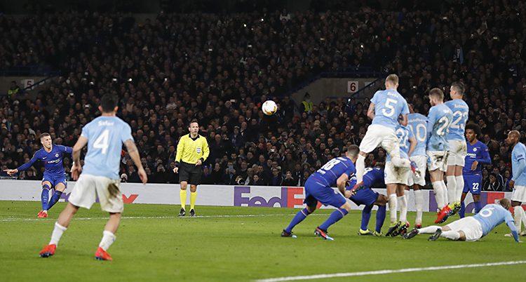 Chelsea gör mål på Malmö