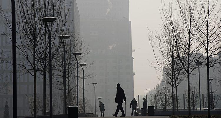 Dålig luft i Milano i Italien.