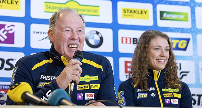 Hanna Öberg och tränaren Wolfgang Pichler