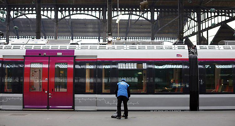 En tågstation i Frankrike.