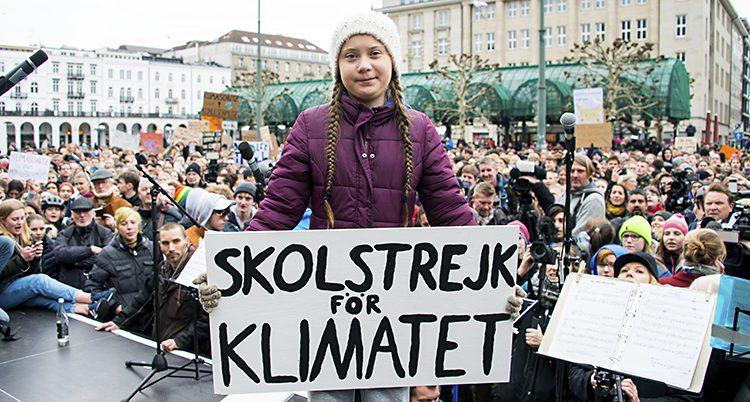 Greta Thunberg strejkar för klimatet