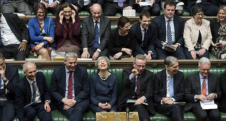 En bild från Storbritanniens riksdag