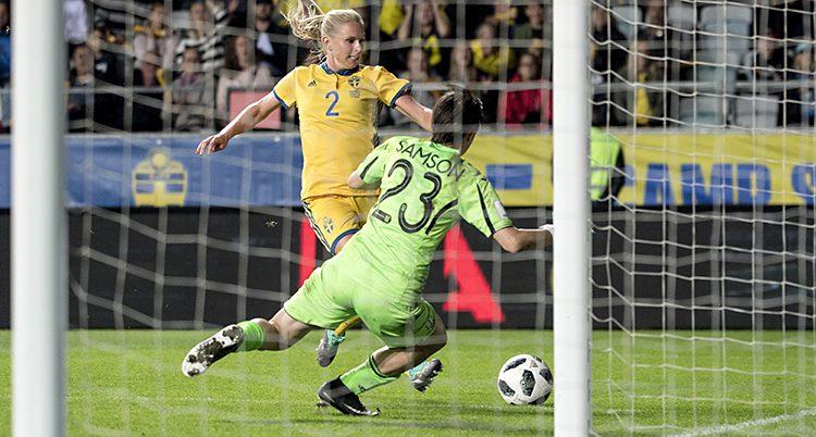 Sverige i en match mot Ukraina