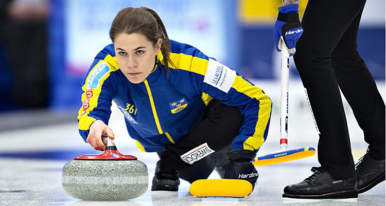 Anna Hasselborg i Sveriges lag.