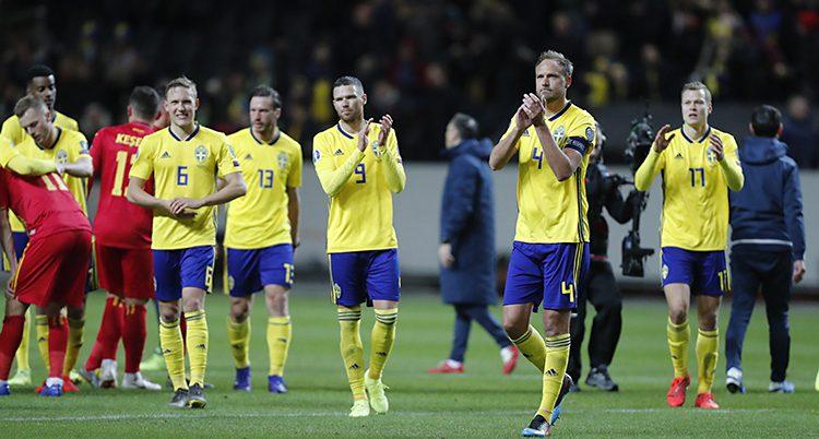 Sverige firar segern.