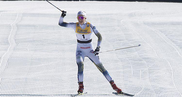 Stina Nilsson vinner ett lopp
