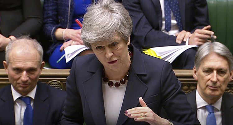 Storbritanniens ledare Theresa Ma