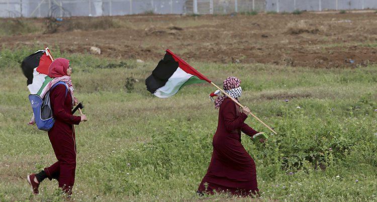 Palestinska kvinnor protesterar