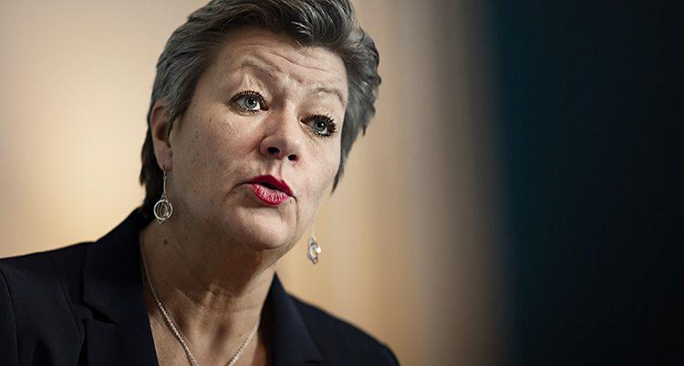 Ministern Ylva Johansson.