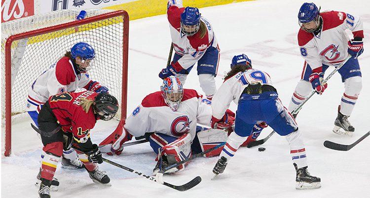 En match i damernas liga i Kanada