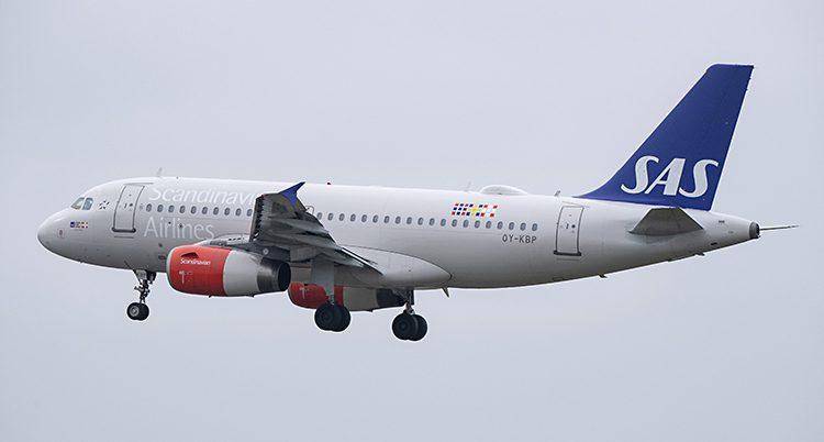 Ett flygplan från SAS.