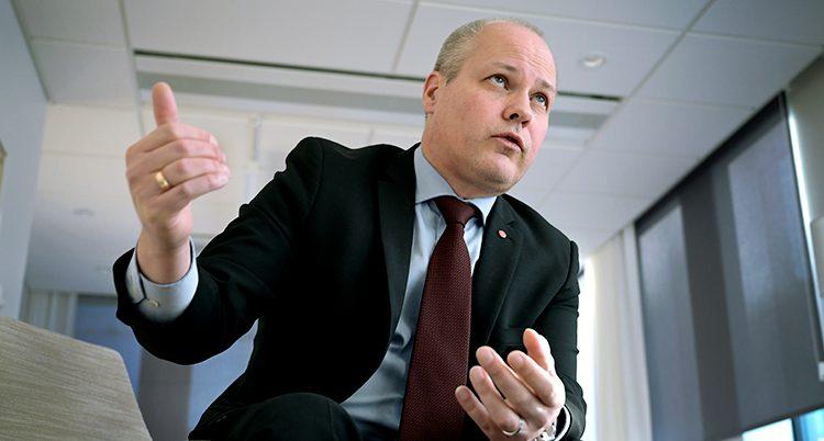 Ministern Morgan Johansson