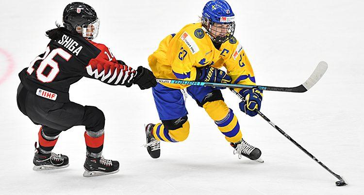 Emma Nordin i landslaget.