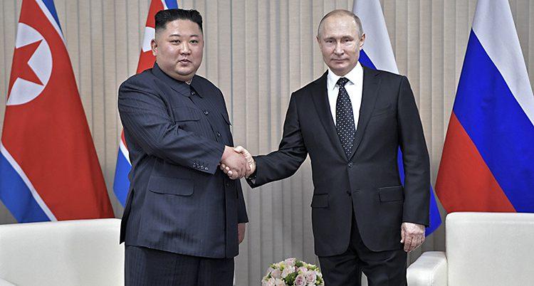 Kim Jong.Un och Vladimir Putin