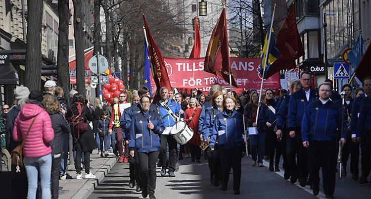Demonstration på 1 maj