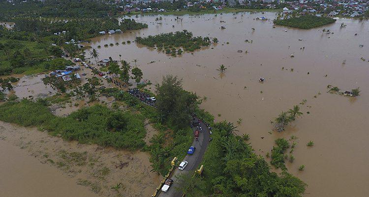 Översvämning i Indonesien