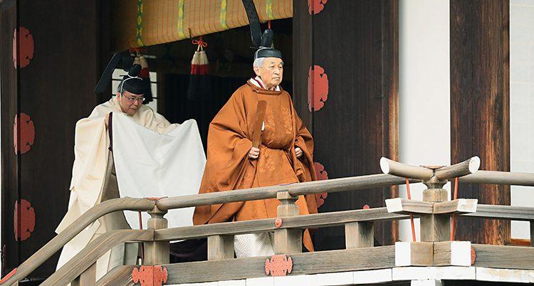 Japans kejsare Akihito slutar.