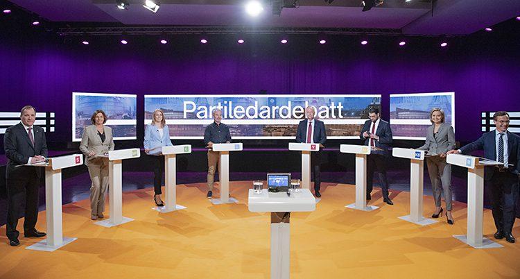 Partiledarna i tv.
