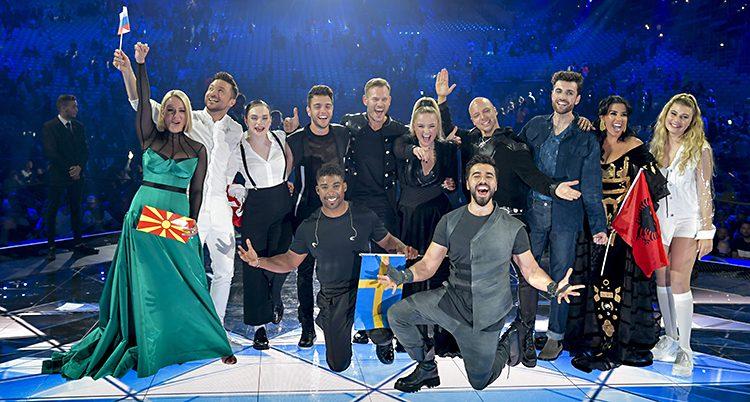Alla tio artister som gick till finalen.